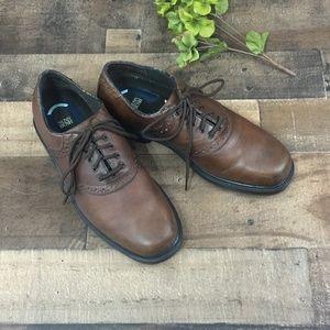 Nunn Bush Comfort Gel Brown Leather Oxfords